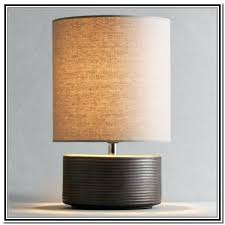 limelights stick l with charging outlet and fabric shade lighting splendid ls with outlets in base limelights brushed