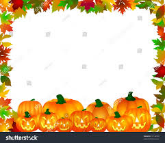 autumn halloween background halloween wallpaper on white background stock illustration