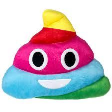 paint emoji emoji expressions rainbow pillow walmart com