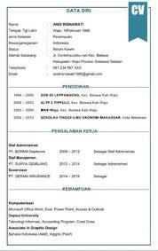form daftar riwayat hidup pdf contoh curriculum vitae atau biodata diri daftar riwayat hidup