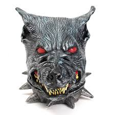 wolfhound head mask creepy animal halloween costume theater prop