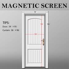 French Door Screen Curtain Magnetic Screen Door 36 X 96 Mosquito Door Mesh 36 X 96 Fit Doors
