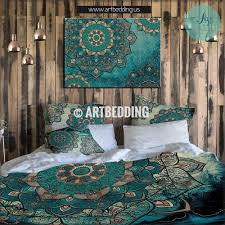 Teal And Gold Bedroom by Mandala Bedding Personalized Bohemian U0026 Mandala Bedding Sets