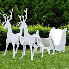 Outdoor Christmas Decorations Reindeer Sleigh by Outdoor Christmas Decorations Cathy Outdoor Christmas