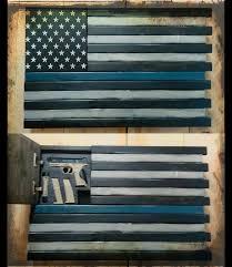 American Furniture Classics Gun Cabinet by Modish Leo Thin Blue Line Home Defense Concealment Flag To