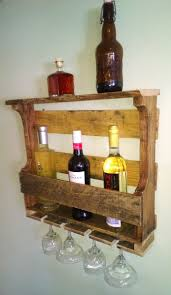 hand made rustic reclaimed recycled pallet wine rack by black dog