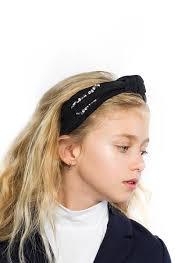 knot headband halo luxe clara rhinestone knot headband in black hello alyss
