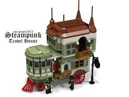 lego ideas steampunk travel house