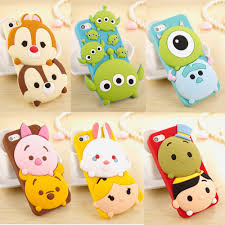 Iphone Home Button Decoration New Cute 3d Cartoon Disney Silicone Rubber Soft Case For Iphone 6