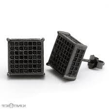 mens black diamond earrings 48 square black diamond earrings black square diamond earrings