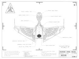 star trek blueprints klingon scout vessel k u0027tara class