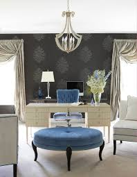 Free Standing Drapes Periwinkle Color Home Office Transitional With Drapes Curtains