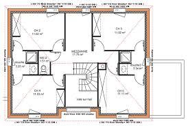 plan de maison a etage 5 chambres plan maison 5 chambres avec etage impressionnant dé du plan de