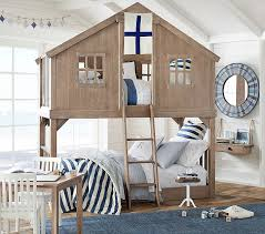 House Bunk Beds Tree House Bunk Bed Pottery Barn