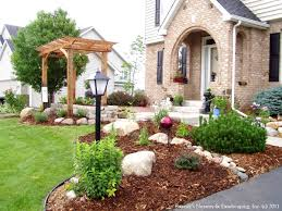 Front Yard Landscaping Pictures by Outdoor U0026 Garden Interesting Front Yard Landscaping Design With