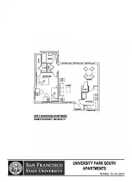 san francisco floor plans university park south sf state housing