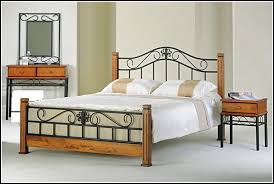 Wood And Wrought Iron Headboards Excellent Wrought Iron Beds Designs M30 For Home Design Trend With