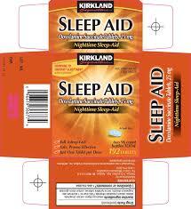 krikland kirkland signature sleep aid tablet costco wholesale company