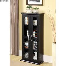 Black Dvd Cabinet Living Room Dvd Tower Cabinet Black Cd Rack Shelf Organizer