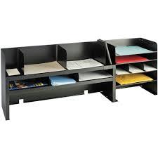 product mmf2061dobk mmf raised shelf design desk organizer