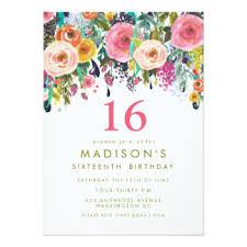 16th birthday invitations announcements zazzle