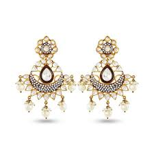 fashion earrings fashion earrings with fashion pearl in 1 gm by auraa trends in