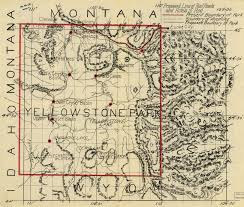 Yellowstone Lodging Map Proposed Rail And Hotels In Yellowstone 1900s