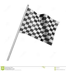 Checkered Racing Flags Checkered Racing Flag 3d Illustration Stock Illustration Image