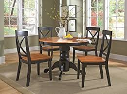 amazon com home styles 5168 318 5 piece dining set black and