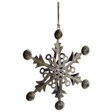 12 metal snowflake ornament shop holt