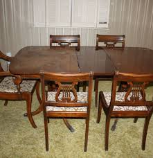duncan phyfe style dining table and chairs ebth duncan phyfe style dining table and chairs
