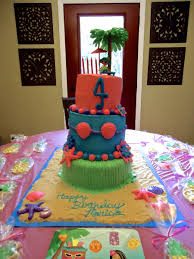 Luau Cake Decorations Luau Hula Birthday Cake Cakecentral Com