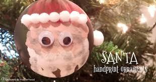 santa handprint ornaments makeovers and motherhood