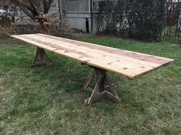 rustic 12 foot french walnut dining table u2014 the elemental garden