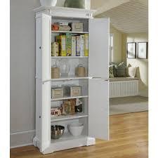 White Storage Cabinet Kitchen White Recessed Kitchen Pantry Storage Cabinet With Doors