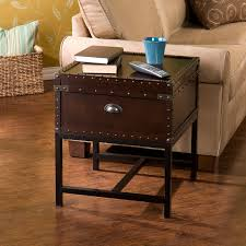 Living Room End Tables With Storage Southern Enterprises Voyager Espresso Trunk End Table Hayneedle