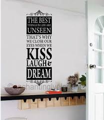 the best things in life are unseen vinyl decal wall sticker words the best things in life are unseen vinyl decal wall sticker words lettering
