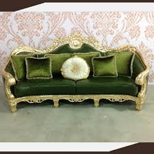 Green Leather Sofa by Alibaba Express Wooden Carved Furniture Bangladesh Arabic Majlis