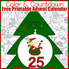 free printable advent calendar color countdown christmas