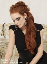 fashioned hair old fashioned long hairstyle with a long ponytail strewn to one side