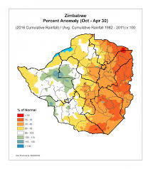 Zimbabwe Map Zimbabwe Food Security Outlook Famine Early Warning Systems
