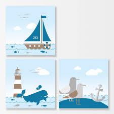kinderzimmer wandbilder bilderset für kinderzimmer sailing taupe