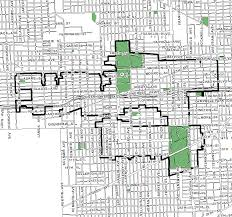 Chicago Bike Map by City Of Chicago Midwest Tif