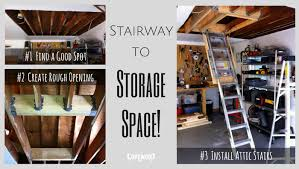 convert unused garage attic space to storage copewood