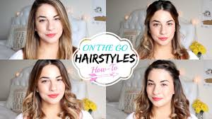 on the go hairstyles on the go hairstyles quick and easy youtube