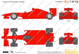 ferrari front drawing the blueprints com vector drawing ferrari f10 formula 1