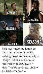 Walking Dead Season 3 Memes - season 1 season 4 season 2 season 9 season 3 this just made me laugh