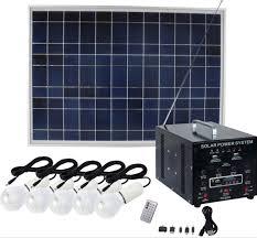 solar dc lighting system 50w dc energy saving solar home lighting system with radio for