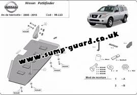 nissan pathfinder gas tank fuel tank guard for nissan pathfinder d40
