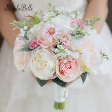 artificial wedding bouquets beautiful pink artificial wedding flowers bridal bouquets buque de